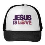 Jesus is Love Mesh Hats