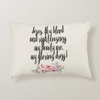 Jesus Is My Beauty -Ivory Decorative Cushion
