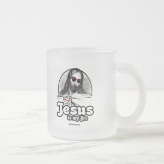Jesus is my Bro Frosted Glass Mug