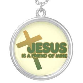 Jesus is my friend round pendant necklace