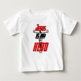 Jesus is my hero: Babies Baby T-Shirt