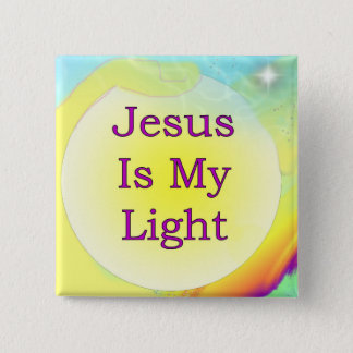 Jesus Is My Light 15 Cm Square Badge