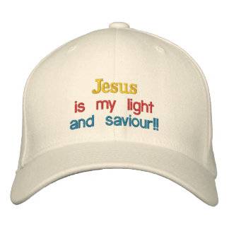 Jesus is my light , and saviour!!, embroidered baseball cap
