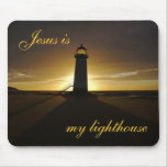 Jesus is My Lighthouse Mousepads