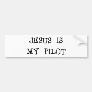 Jesus Is My Pilot Car Bumper Sticker