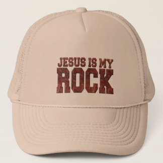 JESUS IS MY ROCK TRUCKER HAT