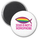 Jesus Is Not A Homophobe 6 Cm Round Magnet