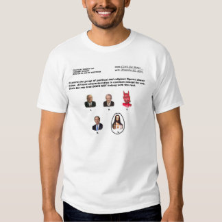 Jesus is not with the religious right! t-shirts