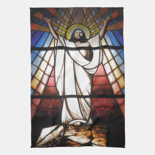 Jesus is Our Saviour Tea Towel