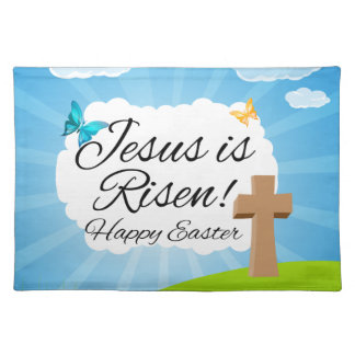 Jesus is Risen, Christian Easter Placemat