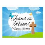 Jesus is Risen, Christian Easter Postcard