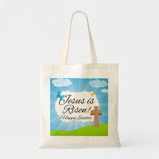 Jesus is Risen, Christian Easter Tote Bag
