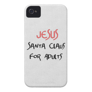 Jesus Is Santa For Adults iPhone 4 Case-Mate Cases