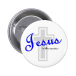 Jesus is the answer 6 cm round badge