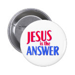 Jesus is the answer Christian gift design 6 Cm Round Badge