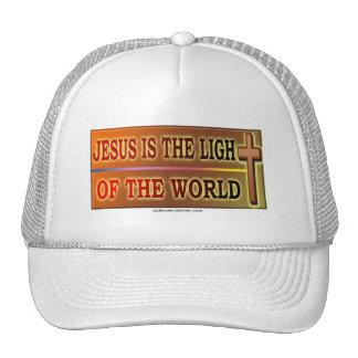 JESUS IS THE LIGHT MESH HATS