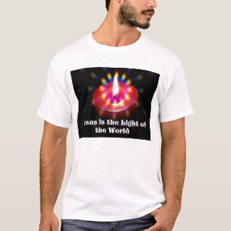 Jesus Is The Light Of The World Red Candle T-Shirt