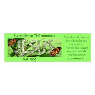 Jesus is THE monarch our King Bookmark Business Cards