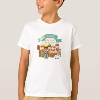 """Jesus is the reason 4 the season"" Nativity Scene T-Shirt"