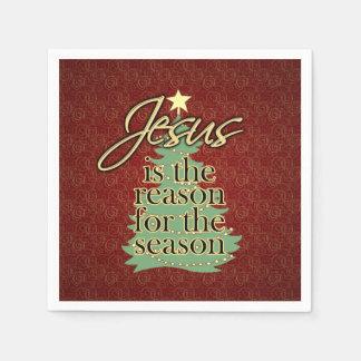 Jesus is the Reason Christian Christmas Disposable Napkins