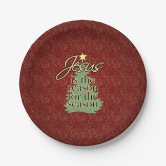 Jesus is the Reason Christian Christmas Paper Plate