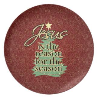 Jesus is the Reason Christian Christmas Plate