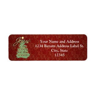 Jesus is the Reason Christian Christmas Return Address Label