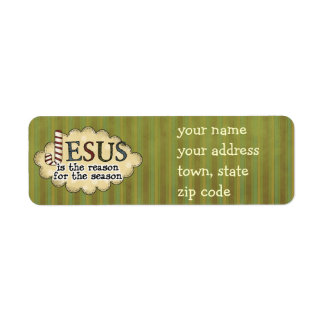 Jesus is the reason Christmas Return Address Label