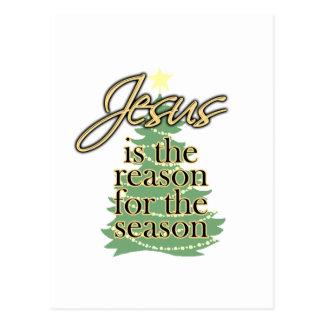Jesus is the Reason for the Season, Christmas Postcard