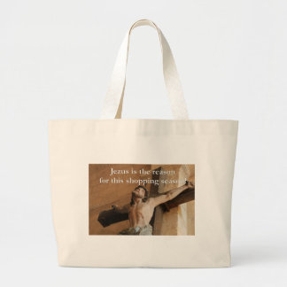 Jesus is the reason for the shopping season jumbo tote bag