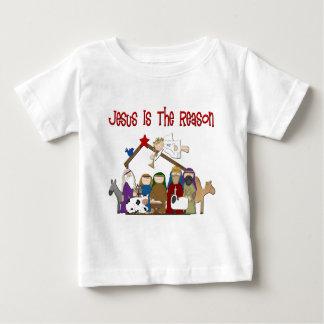 Jesus Is the Reason Manger Scene Baby T-Shirt