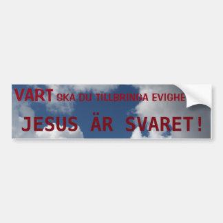 JESUS IS THE REPLY! BUMPER STICKER