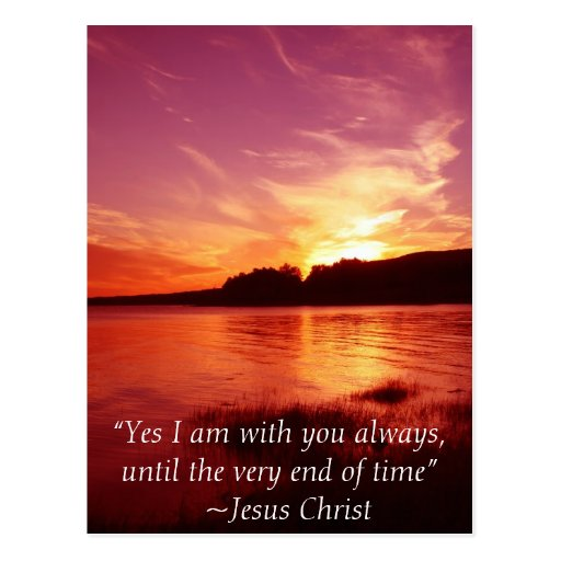 Jesus Is With You Postcard