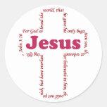 Jesus John 3:16 Round Stickers