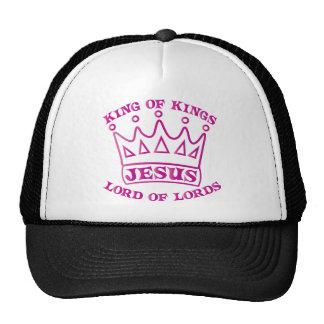 JESUS king of kings hot pink gradient Cap