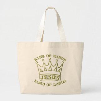 JESUS king of kings od green gradient Bag