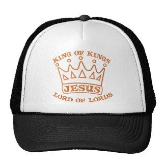JESUS king of kings orange gradient Cap