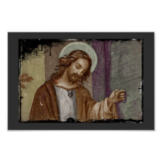Jesus Knocking on Door Poster