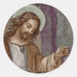 Jesus Knocking on Door Round Sticker