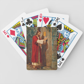 Jesus Knocks On The Door Bicycle Playing Cards