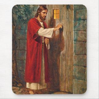 Jesus Knocks On The Door Mouse Mat
