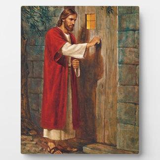 Jesus knocks On The Door Plaque