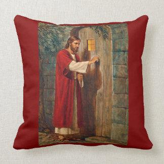 Jesus Knocks On The Door with Full Verse Cushion