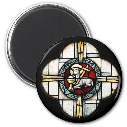 Jesus Lamb of God 6 Cm Round Magnet