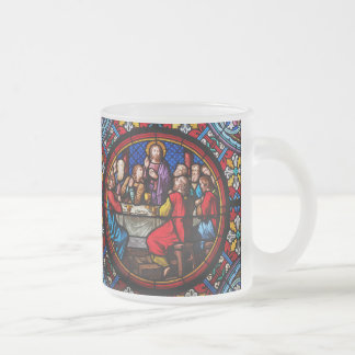 Jesus last meal with his disciples frosted glass mug