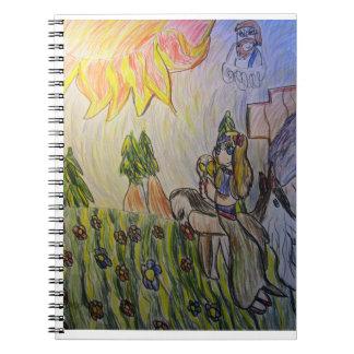 Jesus light never leave spiral notebook