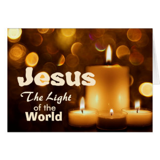 Jesus Light of the World Bible Verse Greeting Card