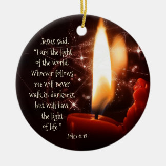 Jesus Light of the World Psalm 8, Custom Christmas Christmas Ornament
