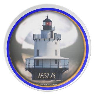 Jesus Lighthouse Plate