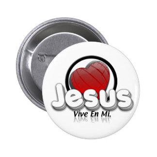Jesus, lives in my… 6 cm round badge